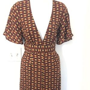 Forever 21 Jumpsuit Size Medium Pant Suit Brown V